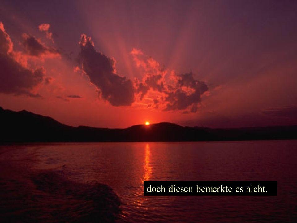 Einsam geworden, schaute es sich um: Und der Abendstern erschien hell leuchtend am Himmelszelt, Gott zeig dich mir!