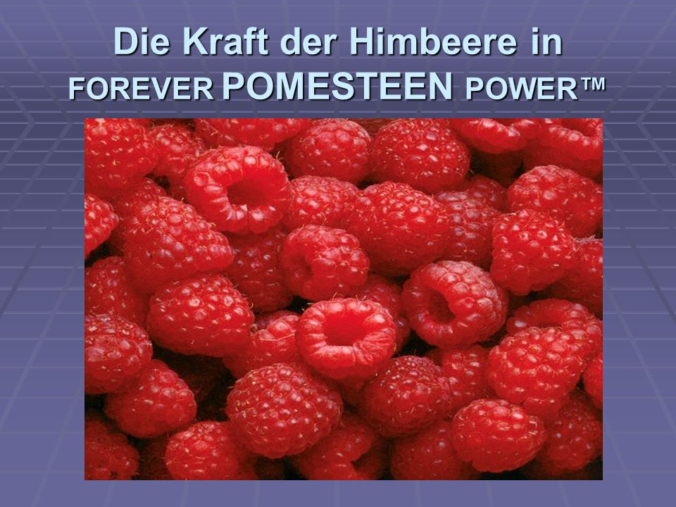 Die Kraft der Heidelbeere in FOREVER POMESTEEN POWER