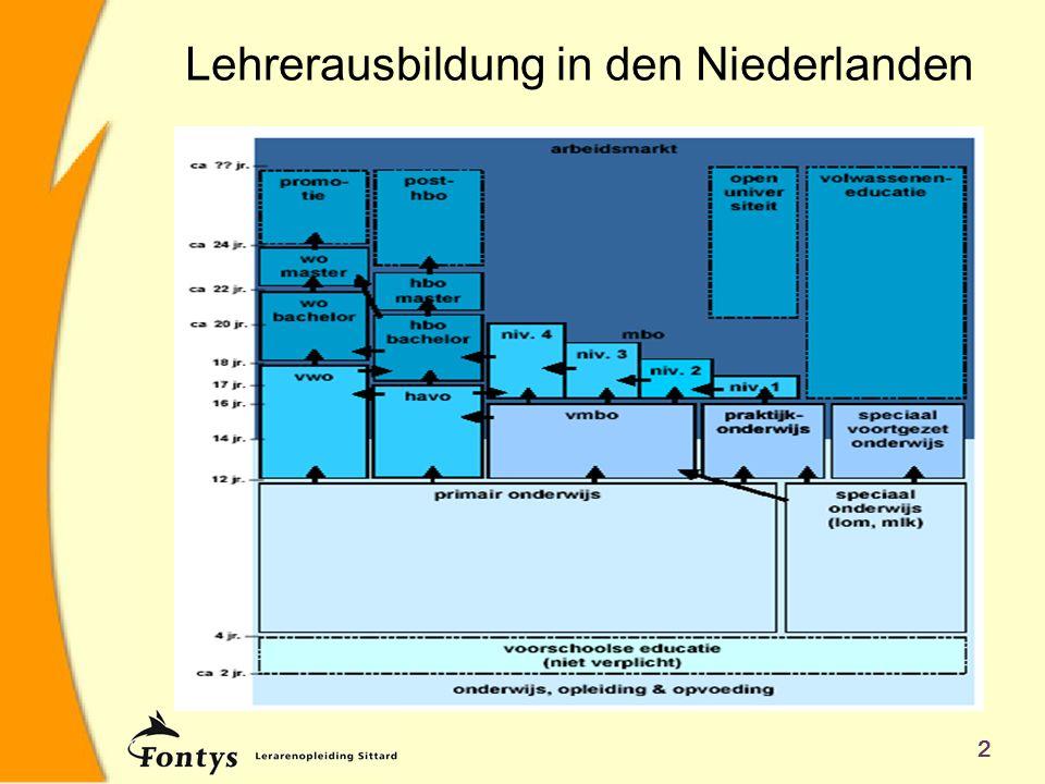 2 Lehrerausbildung in den Niederlanden