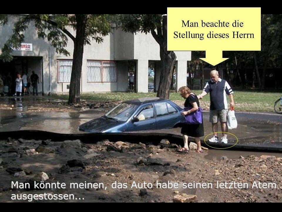 Man könnte meinen, das Auto habe seinen letzten Atem ausgestossen...