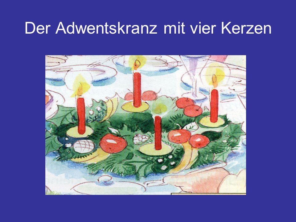Der Adwentskranz mit vier Kerzen