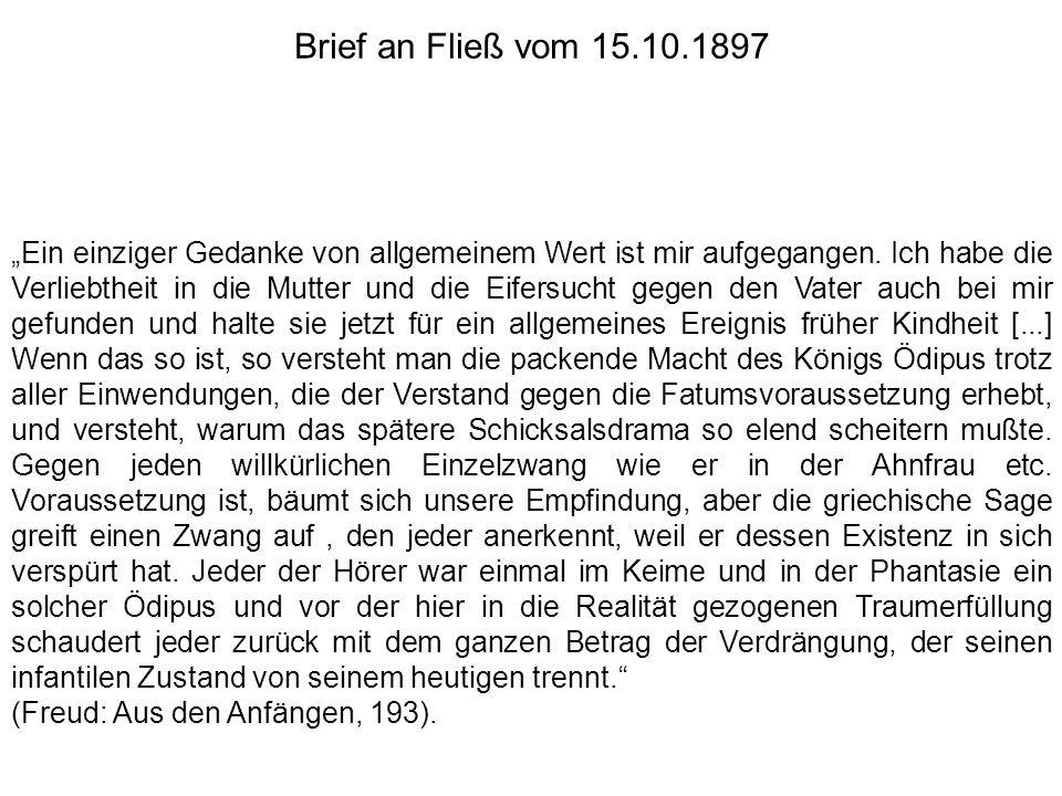 Freud unterscheidet am Trieb: Ziel Quelle (Objekt, Drang)