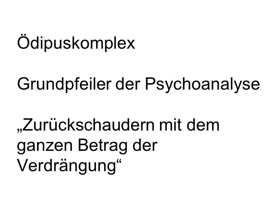 Jacques Ranciere über Freuds Umgang mit dem Ödipus-Mythos: a) allgemeine Tendenz der menschlichen Seele b) fiktionales Material c) (dramatisches Schema)