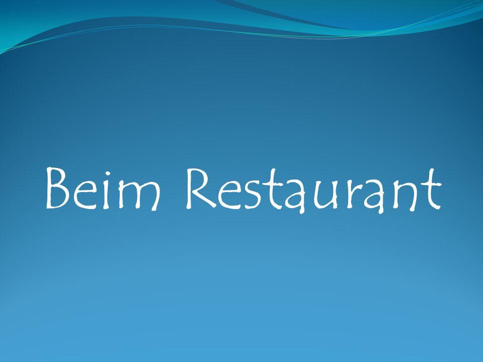 Beim Restaurant