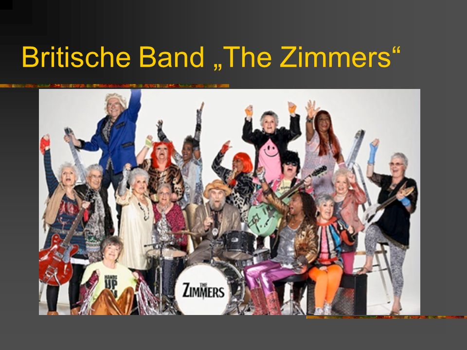 Britische Band The Zimmers