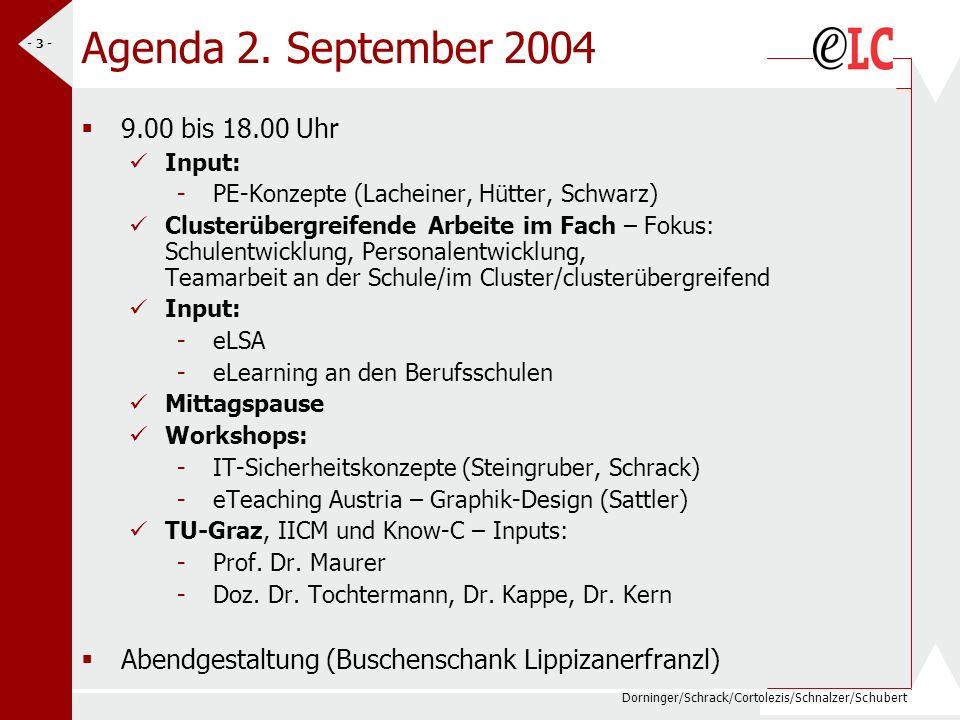 Dorninger/Schrack/Cortolezis/Schnalzer/Schubert - 3 - Agenda 2.