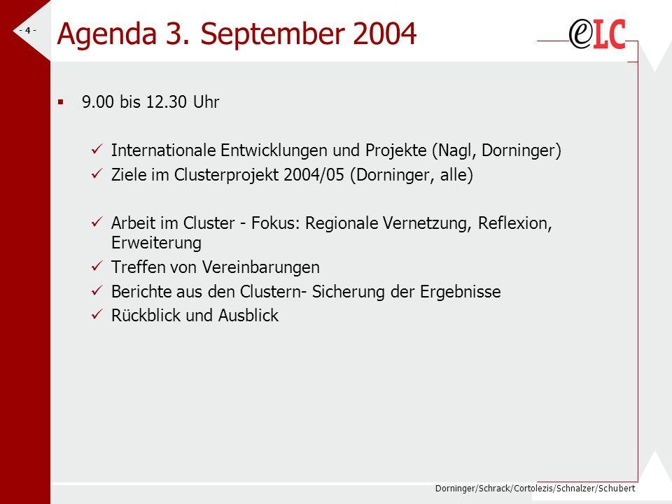 Dorninger/Schrack/Cortolezis/Schnalzer/Schubert - 4 - Agenda 3.