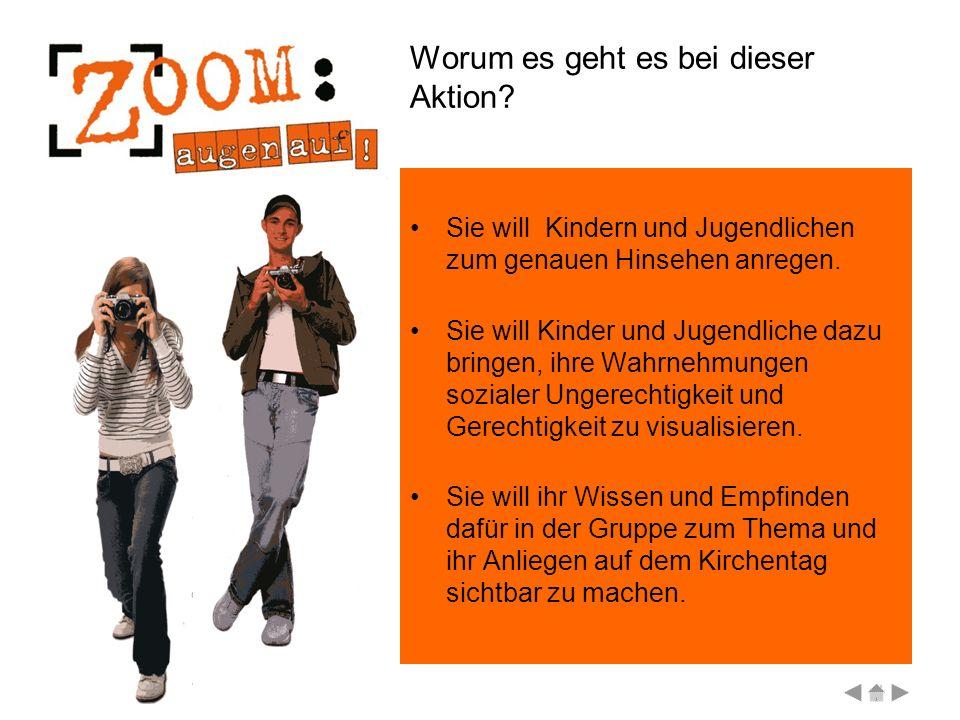 Eine Aktion der Evangelischen Jugend in Deutschland zum 31. Deutschen Evangelischen Kirchentag 2007 in Köln Fotos zur sozialen Gerechtigkeit