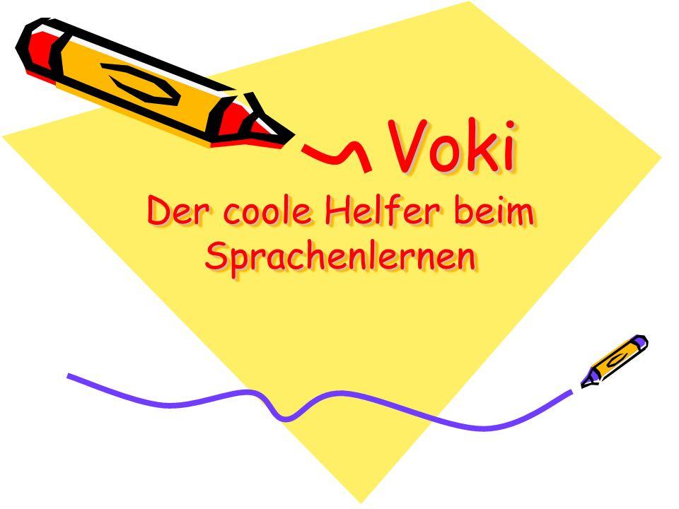 Voki Der coole Helfer beim Sprachenlernen Voki Der coole Helfer beim Sprachenlernen