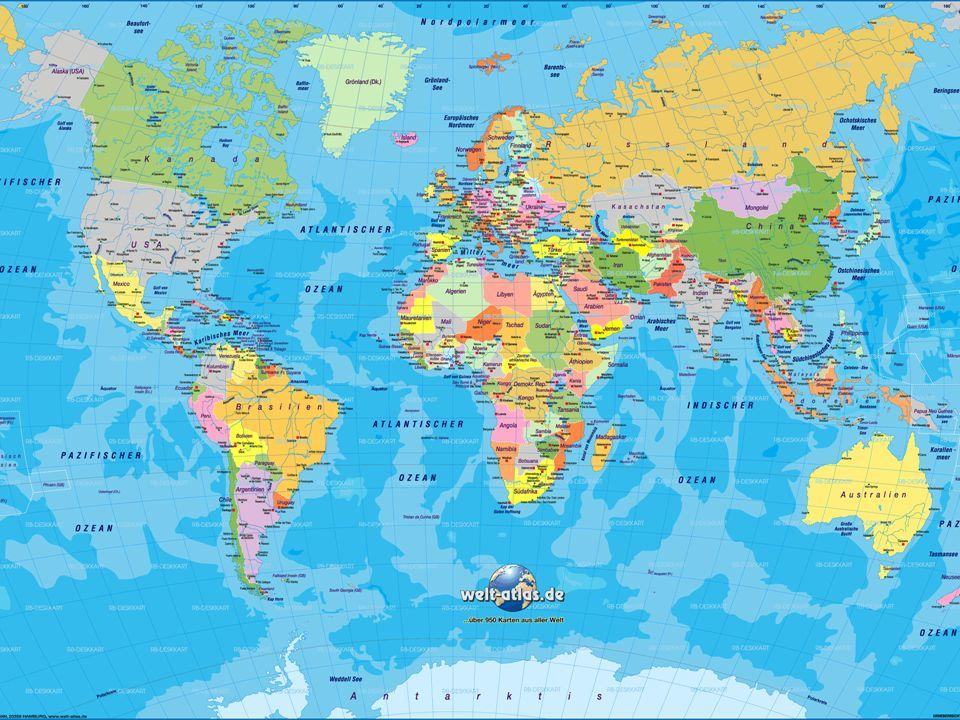 Eine Welt – viele Länder Jedes Land trägt etwas dazu bei, dass die Welt-Gemeinschaft funktioniert!