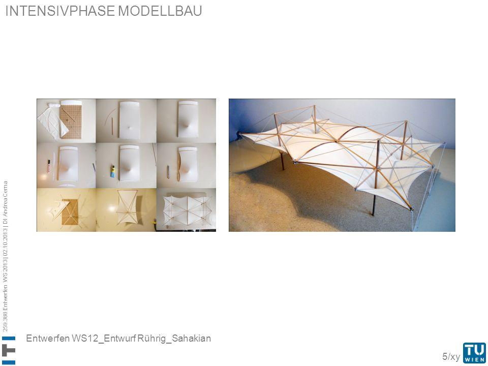 259.388 Entwerfen WS 2013 | 02.10.2013 | DI Andrea Cerna 5/xy INTENSIVPHASE MODELLBAU Entwerfen WS12_Entwurf Rührig_Sahakian