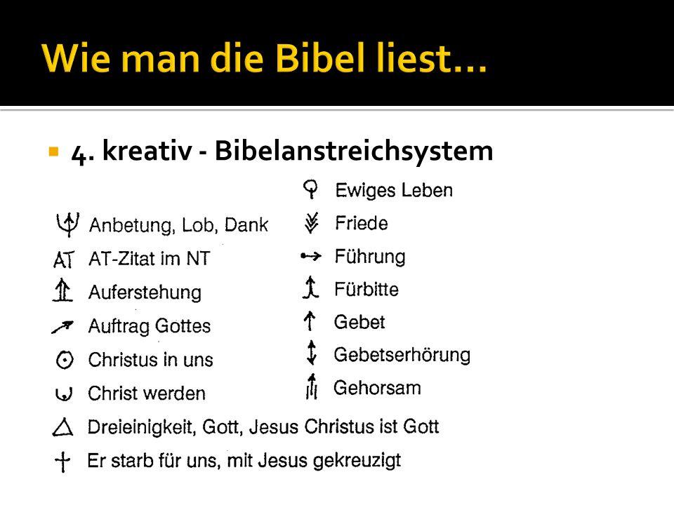 4. kreativ - Bibelanstreichsystem