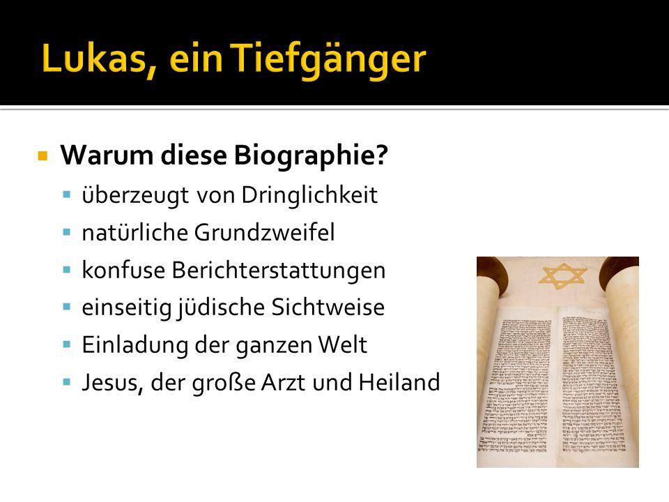 Warum diese Biographie? überzeugt von Dringlichkeit natürliche Grundzweifel konfuse Berichterstattungen einseitig jüdische Sichtweise Einladung der ga