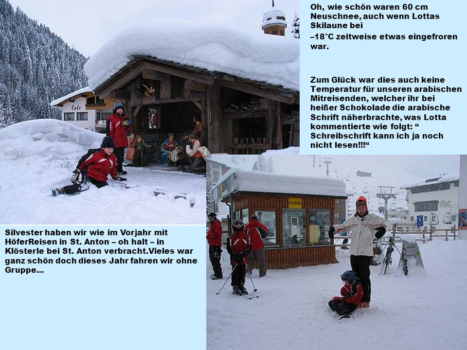 Oh, wie schön waren 60 cm Neuschnee, auch wenn Lottas Skilaune bei –18°C zeitweise etwas eingefroren war.