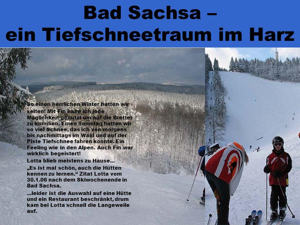 Bad Sachsa – ein Tiefschneetraum im Harz So einen herrlichen Winter hatten wir selten.
