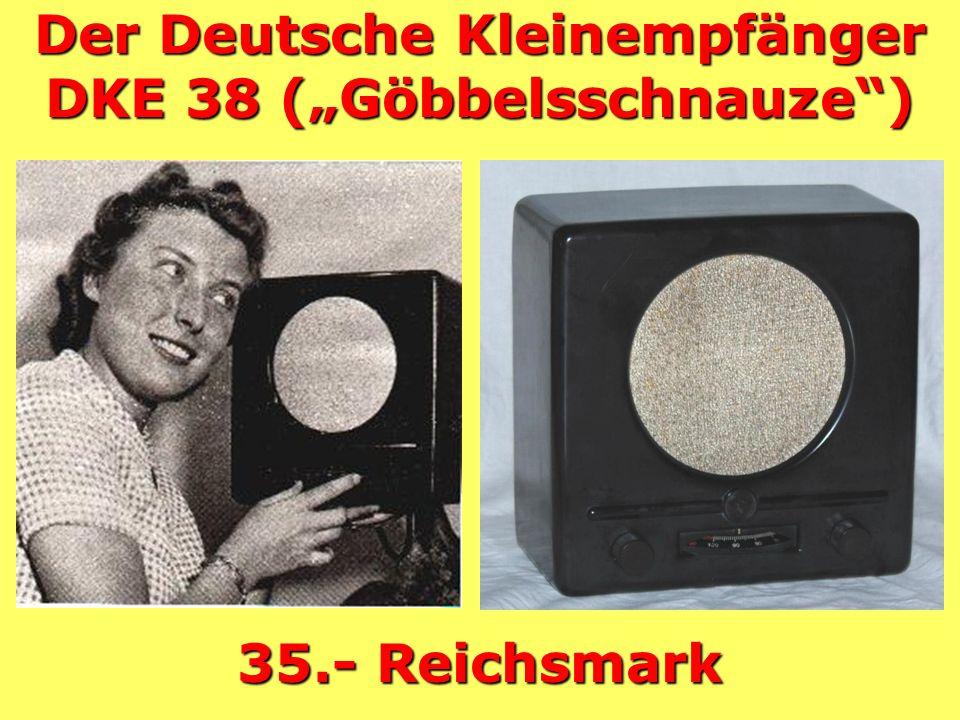 1938 Volks- empfänger VE301dyn W und GW 65.- RM