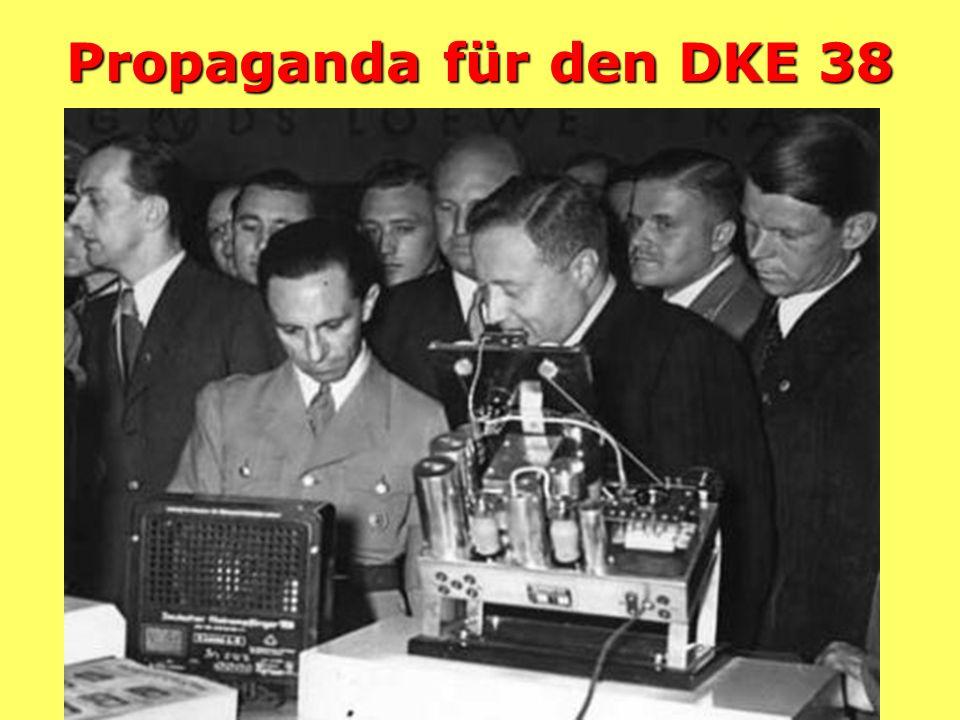 Der Deutsche Kleinempfänger DKE 38 (Göbbelsschnauze) 35.- Reichsmark