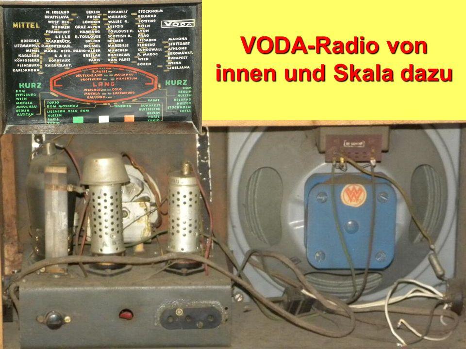 Bau von Radios aus ehemaligen Wehrmachtsteilen Notradios Zerlegebetriebe in Wanfried und auf dem Flugplatz in Eschwege Fa. VODA 1946/47