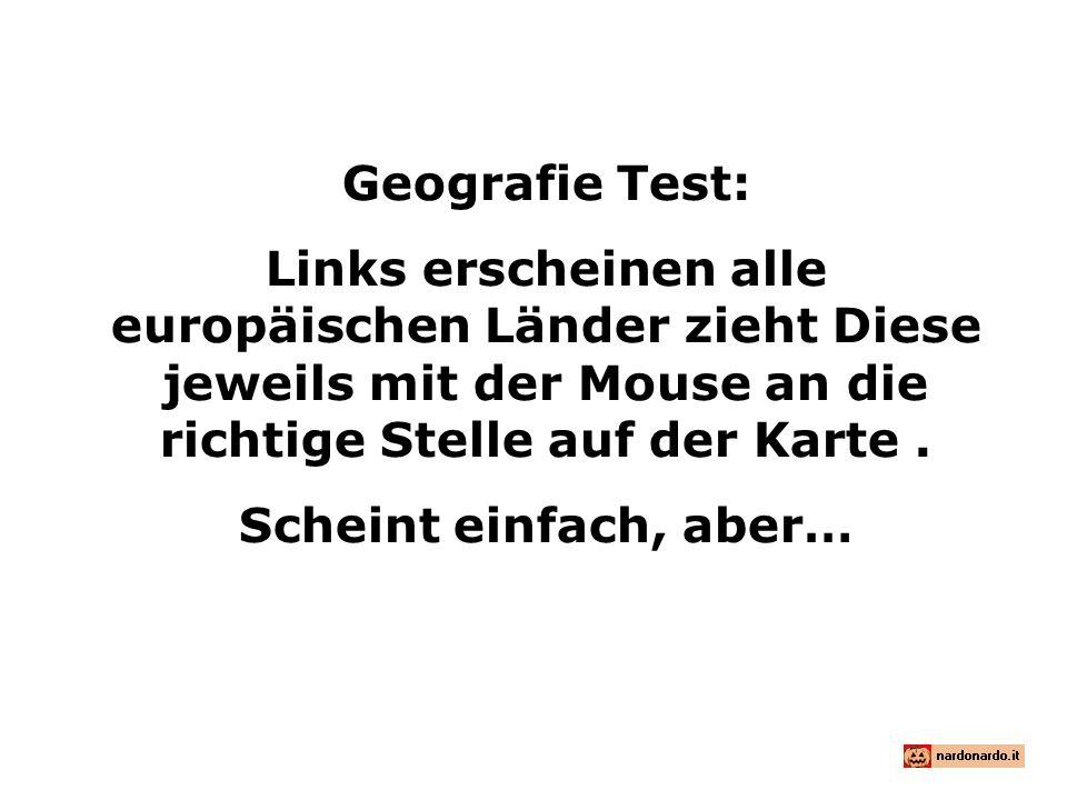 Geografie Test: Links erscheinen alle europäischen Länder zieht Diese jeweils mit der Mouse an die richtige Stelle auf der Karte.