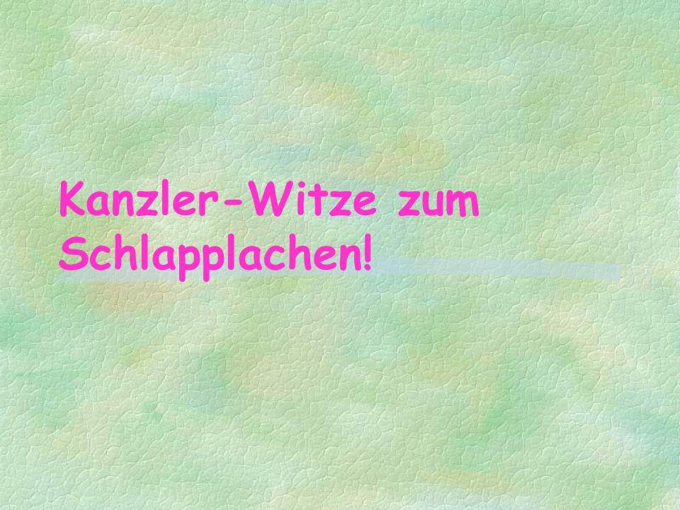 Bundeskanzler Schröder begegnet einem Muli.Fragt das Muli: Wer bist Du.