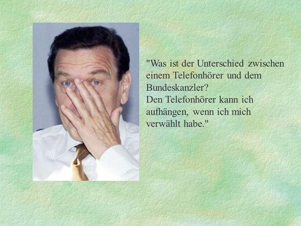Warum heißt die Gattin des Kanzlers Doris Schröder-Köpf.