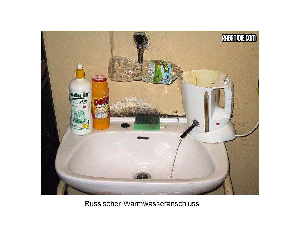 Russischer Warmwasseranschluss