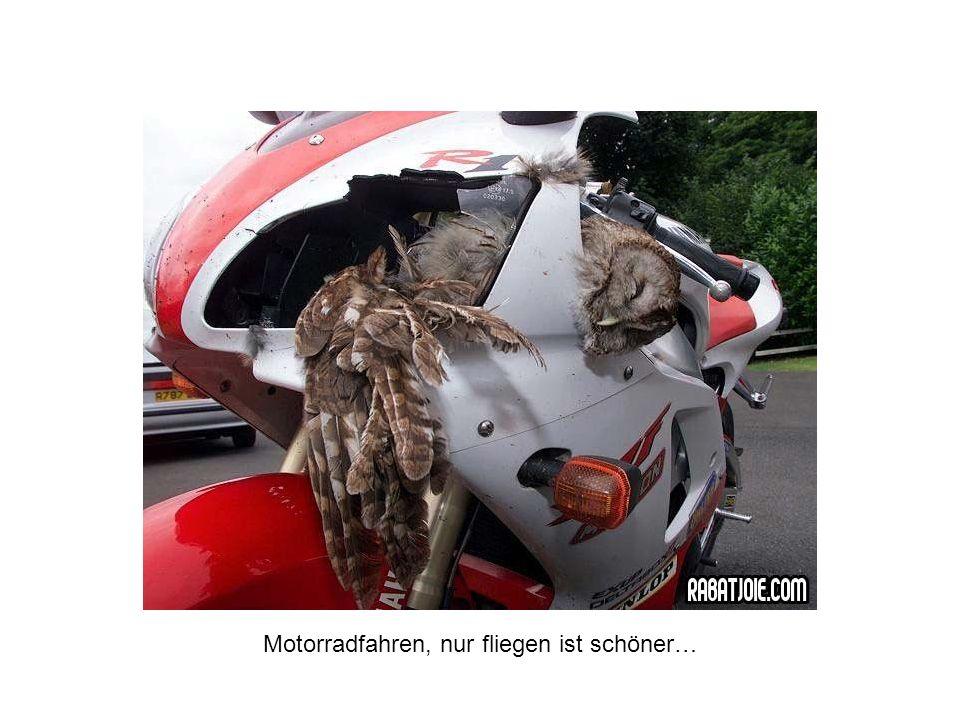 Motorradfahren, nur fliegen ist schöner…