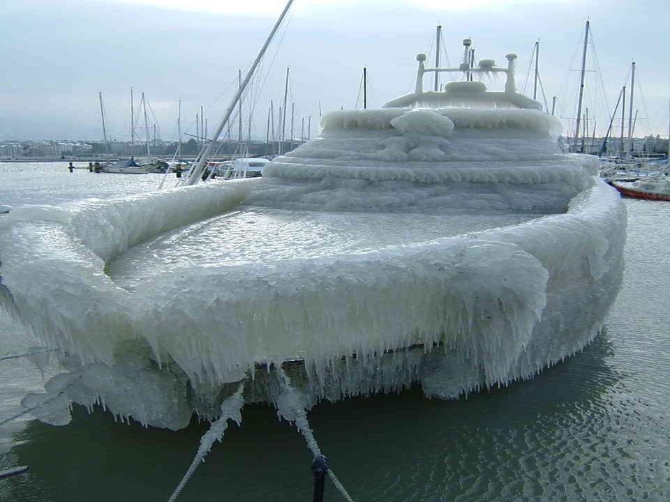 Ein enormer Eissturm