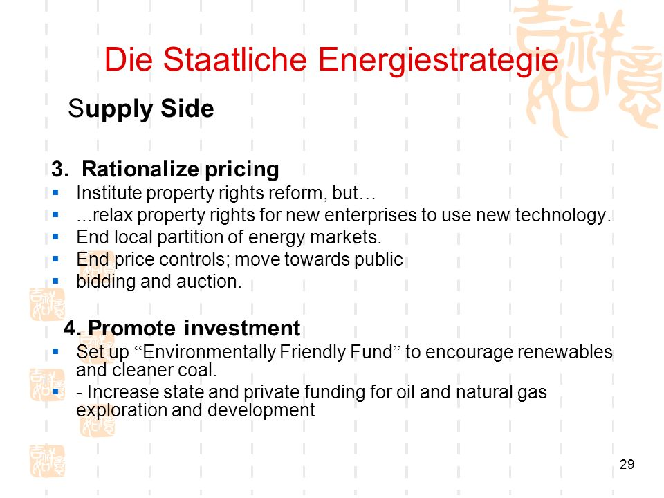 29 Die Staatliche Energiestrategie Supply Side 3.