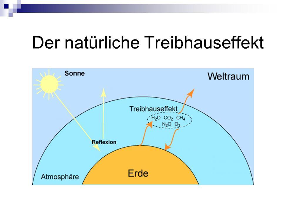 Belege für den Treibhauseffekt - Anstieg des Meeresspiegels um 10-20 cm - Anstieg der Temperatur in der Arktis um 1,7° C Belege gegen den Treibhauseffekt - Meeresoberflächentemperatur hat abgenommen - Eisbedeckung der Arktis hat zugenommen