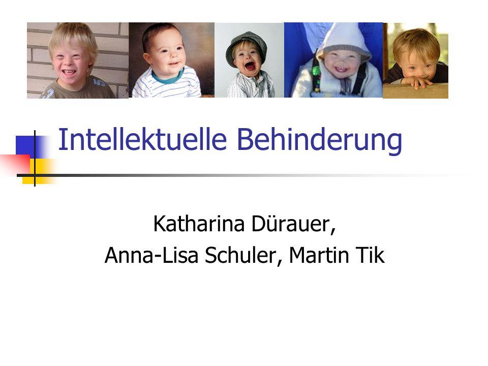 Intellektuelle Behinderung Katharina Dürauer, Anna-Lisa Schuler, Martin Tik