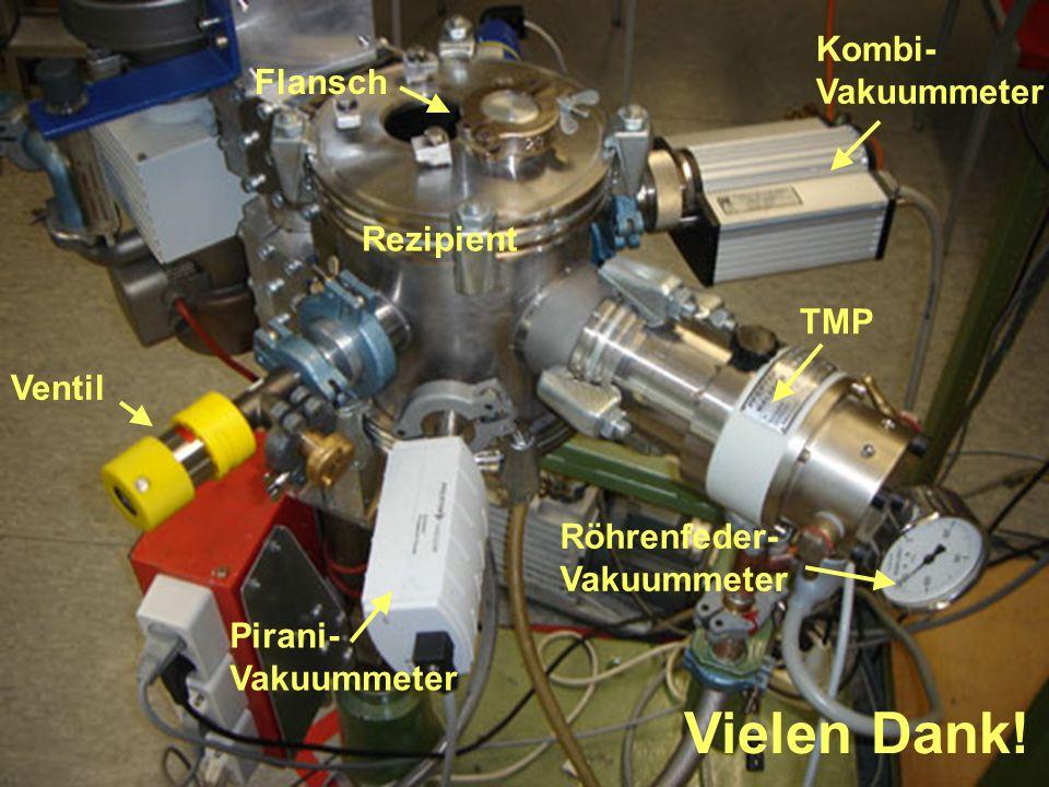 Vielen Dank! TMP Rezipient Flansch Ventil Kombi- Vakuummeter Pirani- Vakuummeter Röhrenfeder- Vakuummeter