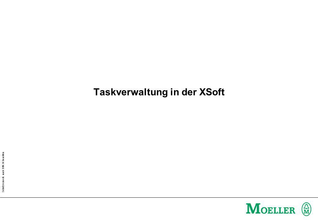Schutzvermerk nach DIN 34 beachten Taskverwaltung in der XSoft