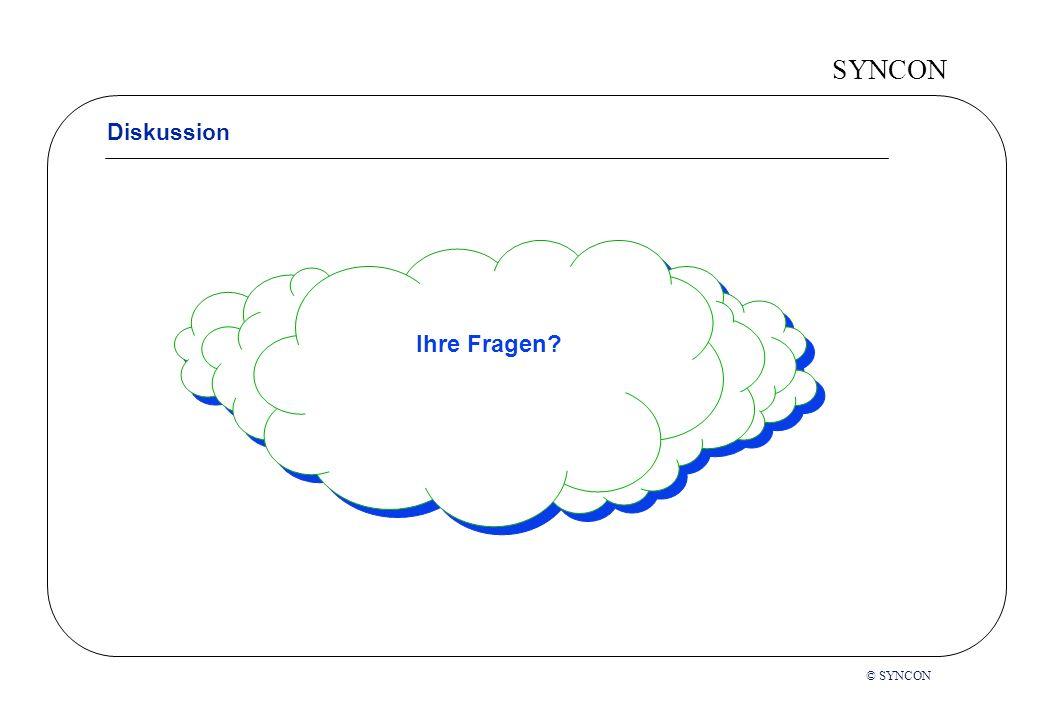 SYNCON Diskussion Ihre Fragen © SYNCON