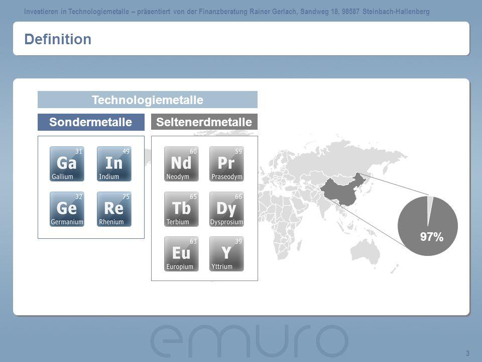 Investieren in Technologiemetalle – präsentiert von der Finanzberatung Rainer Gerlach, Sandweg 18, 98587 Steinbach-Hallenberg 14 Kursentwicklung Neodym