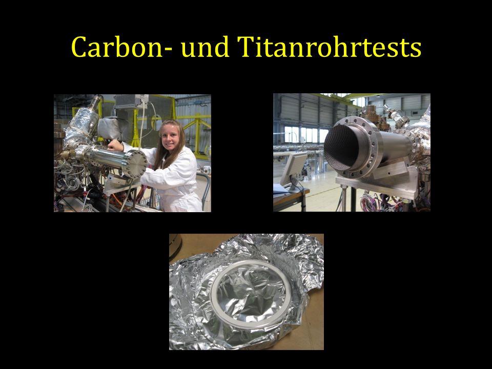 Carbon- und Titanrohrtests