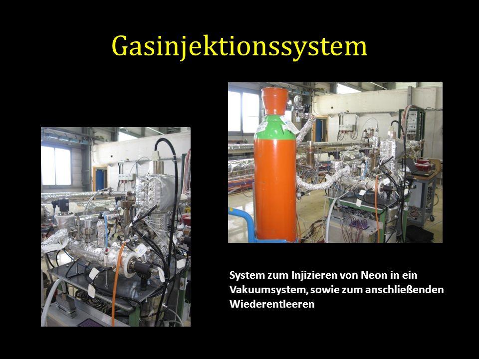 Gasinjektionssystem System zum Injizieren von Neon in ein Vakuumsystem, sowie zum anschließenden Wiederentleeren