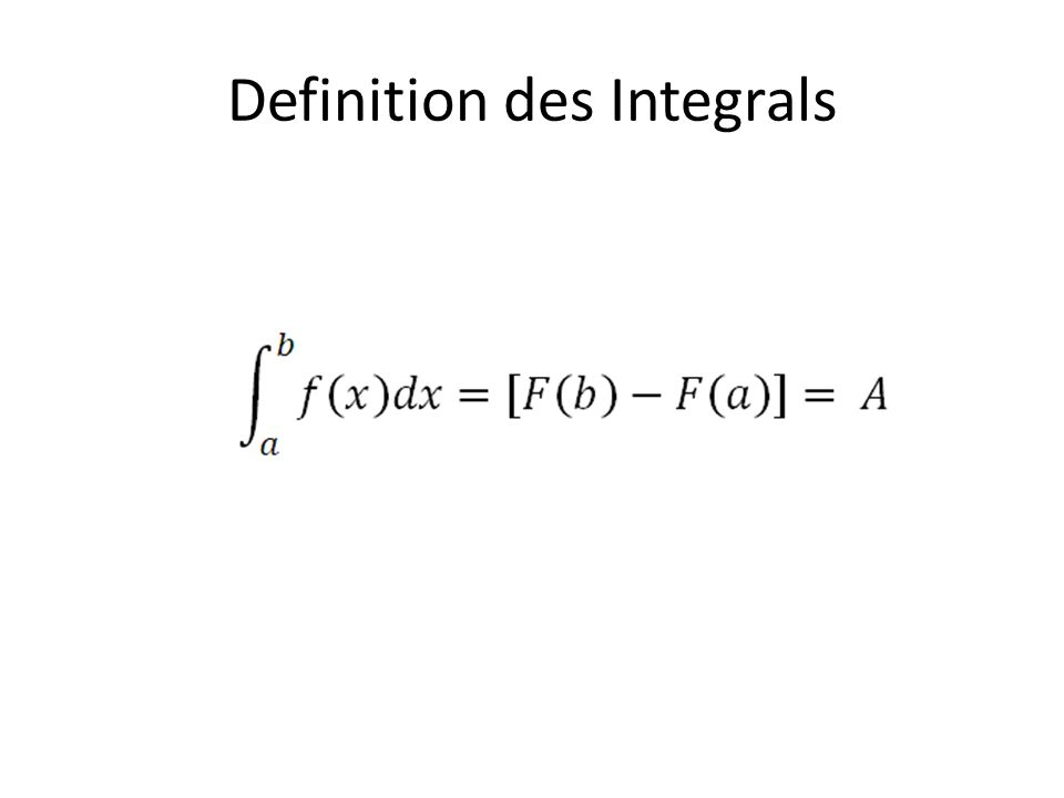 Definition des Integrals
