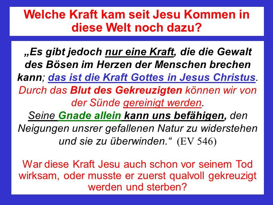 Es gibt jedoch nur eine Kraft, die die Gewalt des Bösen im Herzen der Menschen brechen kann; das ist die Kraft Gottes in Jesus Christus.