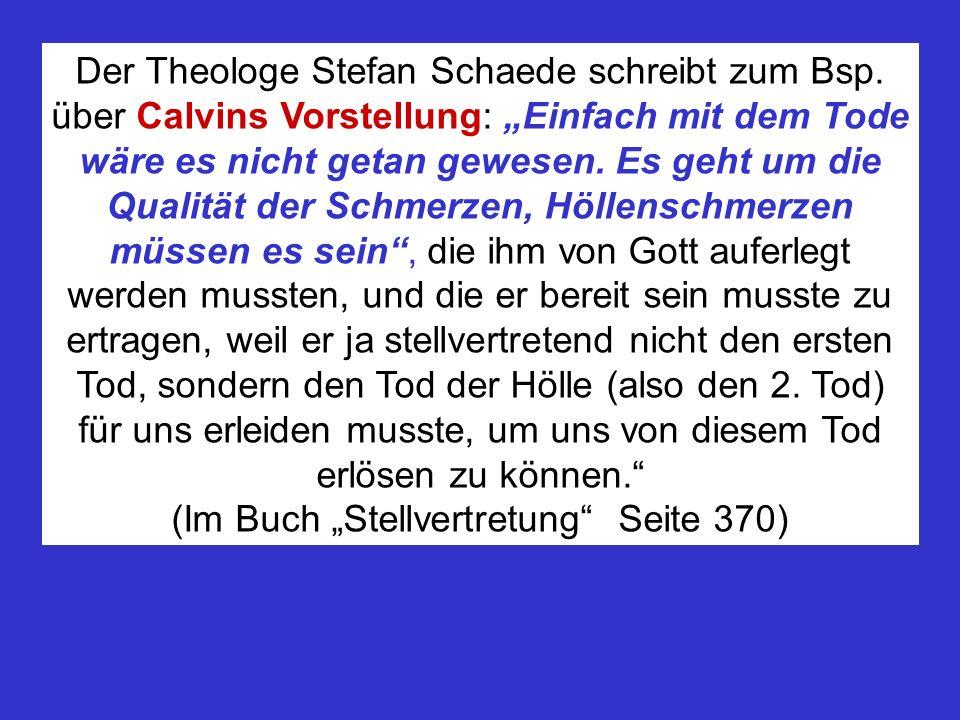Der Theologe Stefan Schaede schreibt zum Bsp.