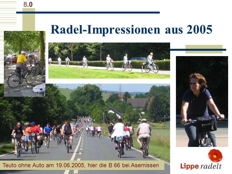 Radel-Impressionen aus 2005 8.0 Teuto ohne Auto am 19.06.2005, hier die B 66 bei Asemissen