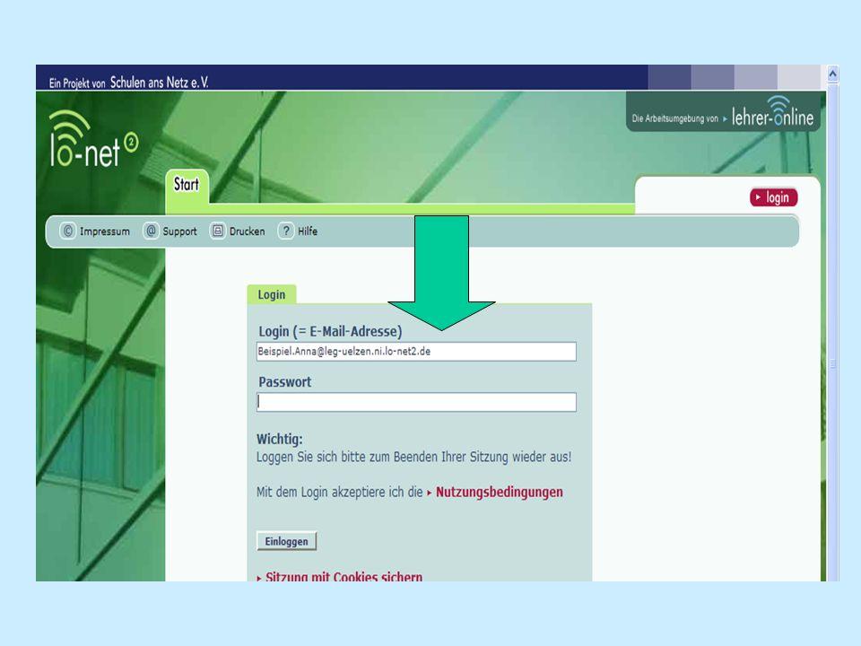 Als erstes Passwort trägst du das Startpasswort, das neben deinem Benutzernamen auf dem Anmeldezettel steht, in das entspr.