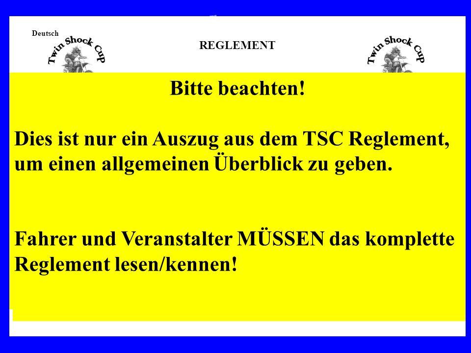 Deutsch REGLEMENT TWIN SHOCK CUP, TSC Version 2009 ARTIKEL 1Zielsetzung Klassische Rennmotorräder so original wie möglich instandzusetzen und zu erhal