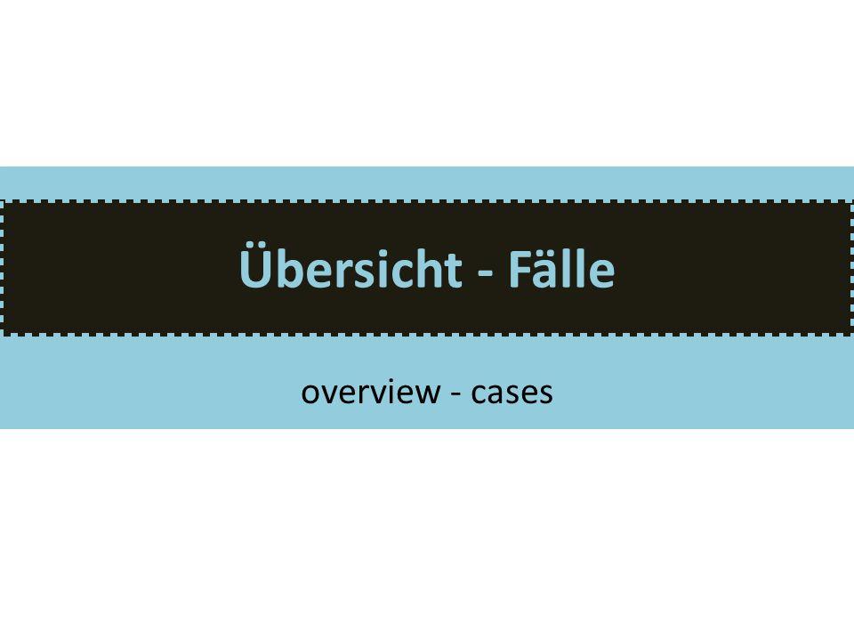 Übersicht - Fälle overview - cases