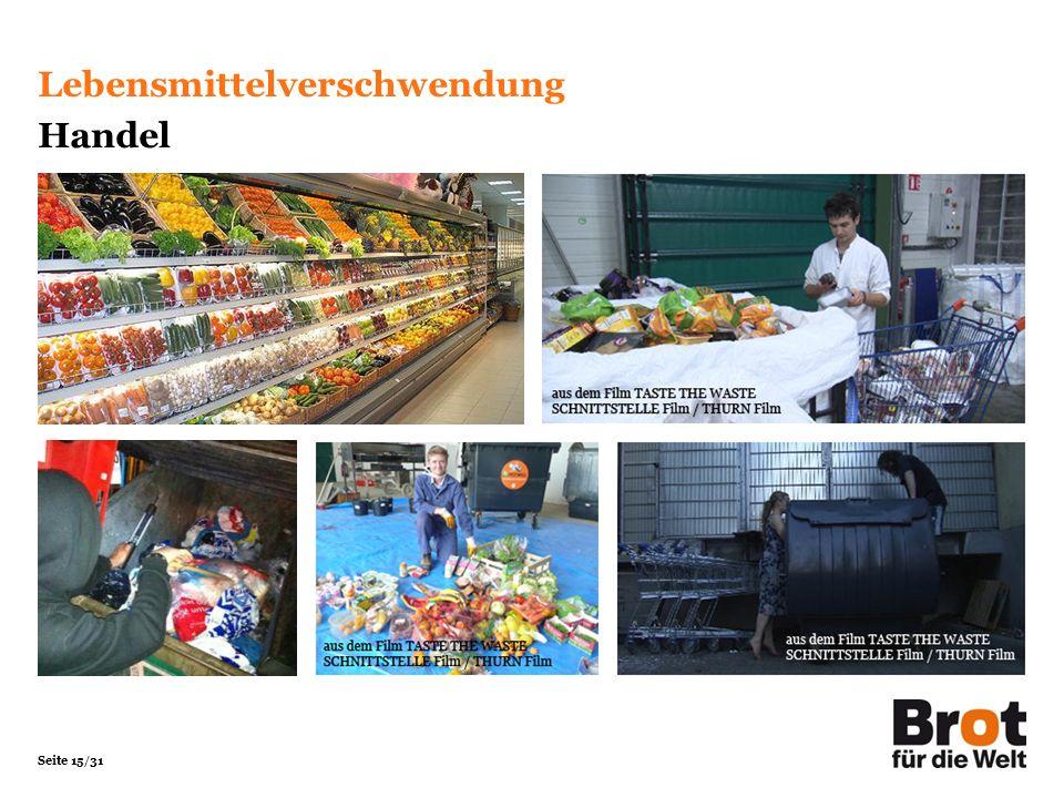 Seite 15/31 Lebensmittelverschwendung Handel