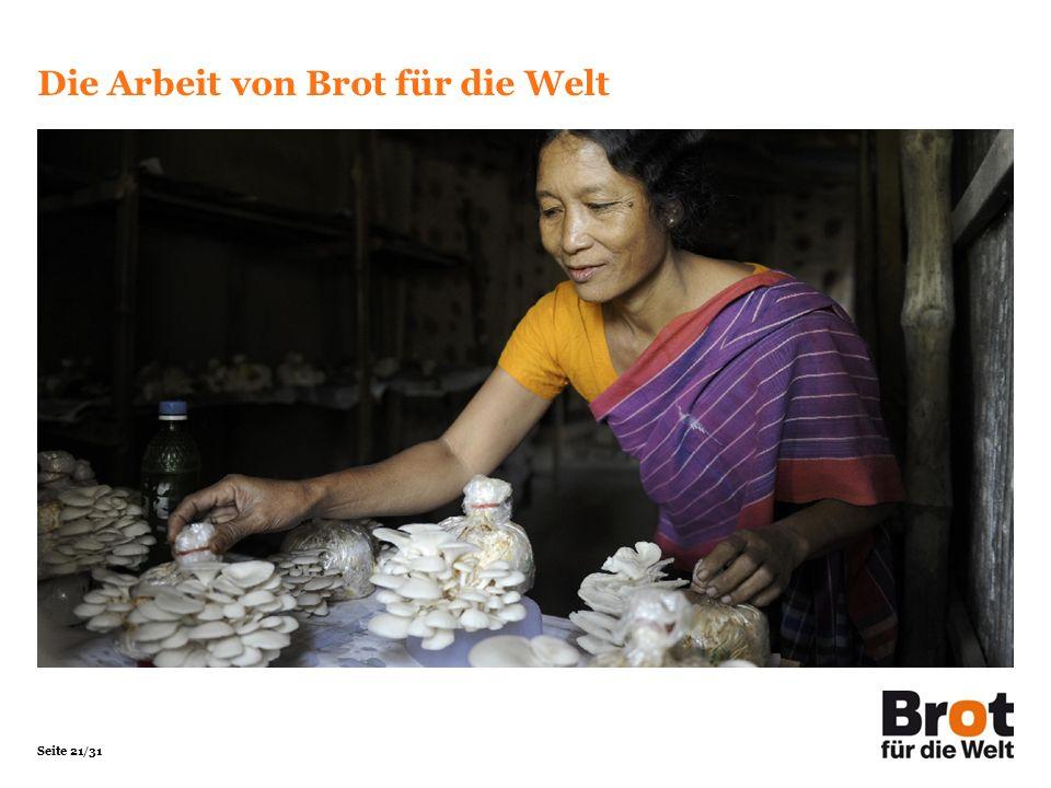 Seite 21/31 Die Arbeit von Brot für die Welt