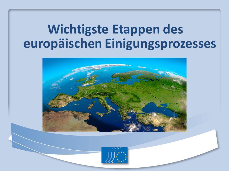 Wichtigste Etappen des europäischen Einigungsprozesses