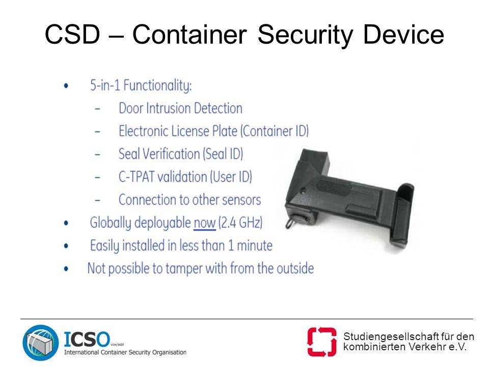 Studiengesellschaft für den kombinierten Verkehr e.V. CSD – Container Security Device