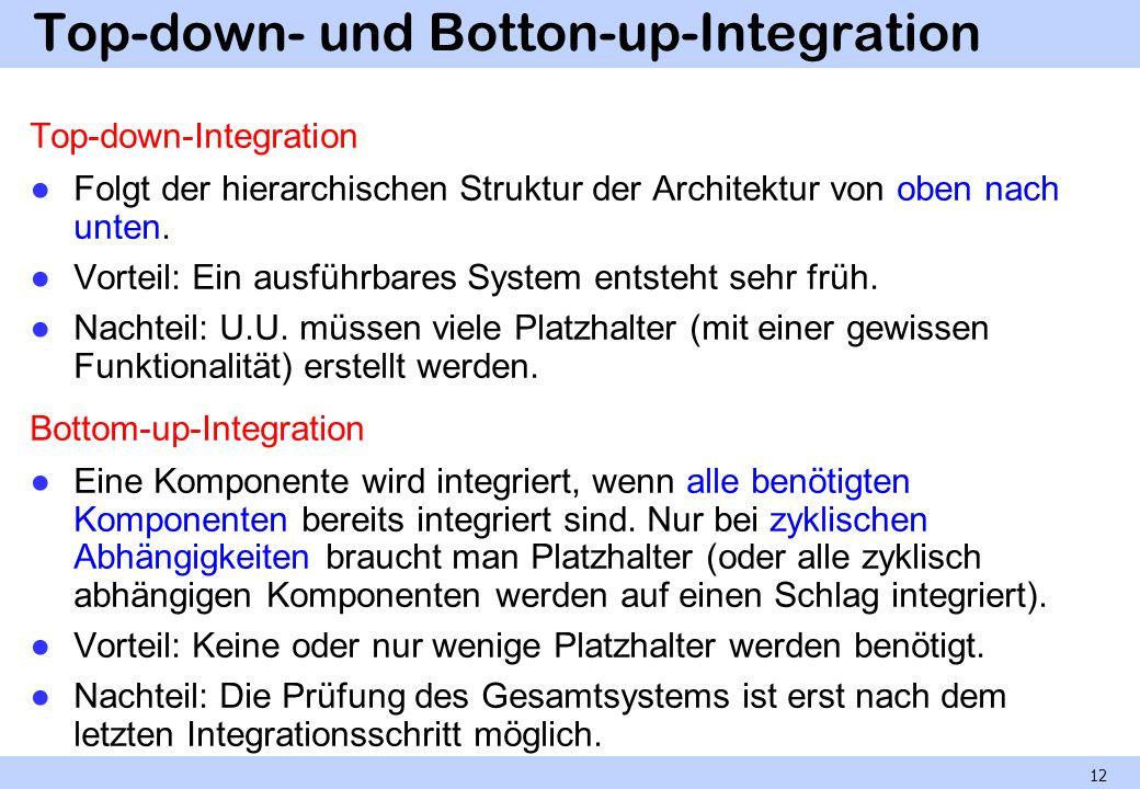 Kontinuierliche Integration Im Extreme Programming: laufende (typisch tägliche) Integration auf dem (von den Entwicklungsumgebungen getrennten) Integrationsrechner.