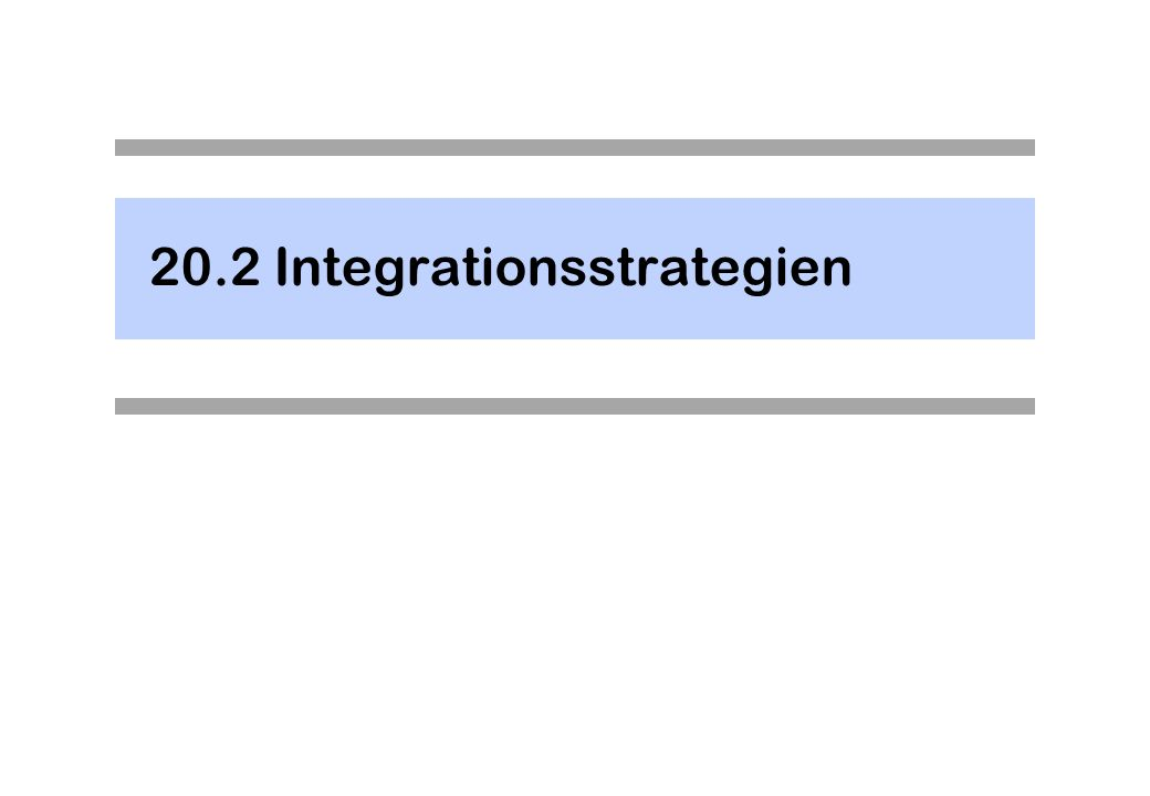 20.2Integrationsstrategien